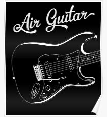 Air Guitar Shirt Poster