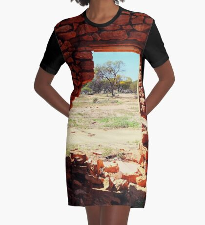 Hole in the Wall Graphic T-Shirt Dress