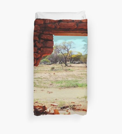 Hole in the Wall Duvet Cover