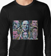 Gangsters painting movie Goodfellas Godfather Casino Scarface Sopranos Long Sleeve T-Shirt