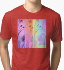 Holographic Daisy Rainbow Tri-blend T-Shirt