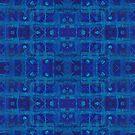 Blue weave, tartan pattern  by clipsocallipso