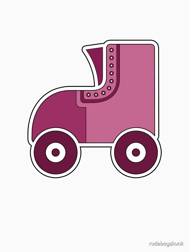Pink Rollerskate by rudeboyskunk