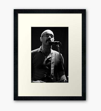 Joe lead singer of Fred Framed Print