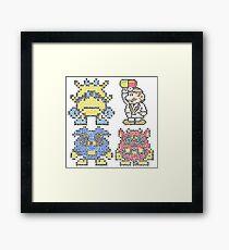 Doctor Mario & Virus Videogame Nintendo Framed Print