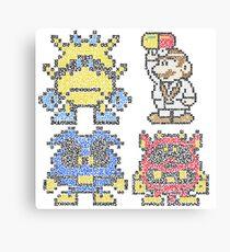 Doctor Mario & Virus Videogame Nintendo Canvas Print