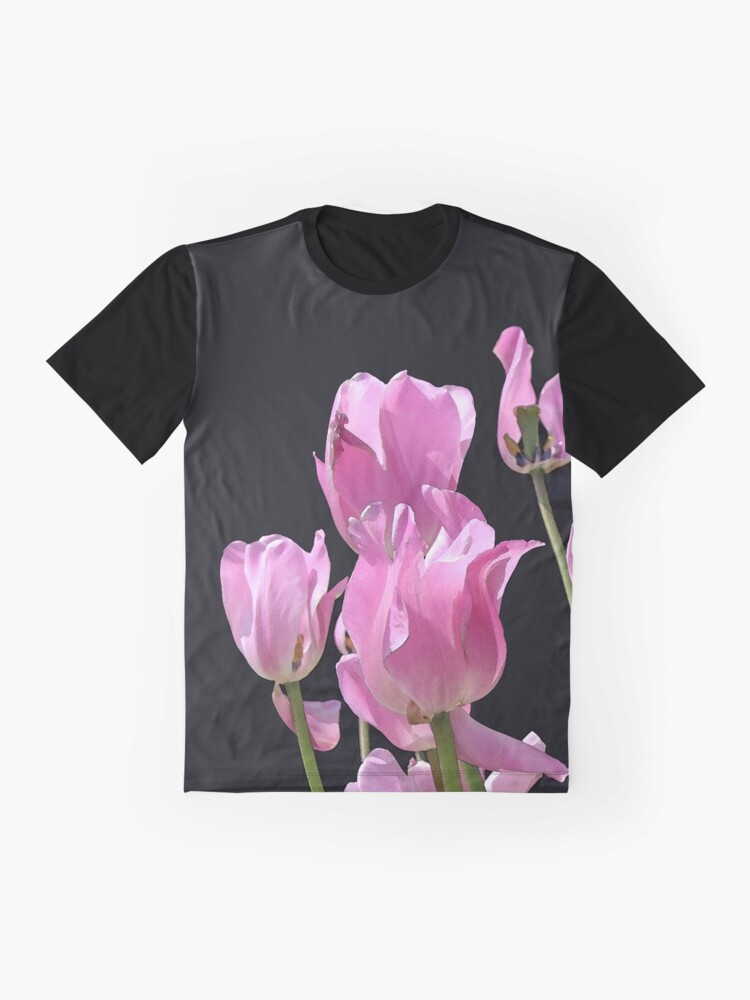 Alternate view of Tulips in the pink Graphic T-Shirt