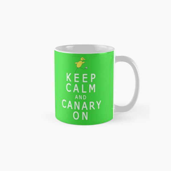 Keep Calm and Canary On (Norwich City FC inspired) Classic Mug