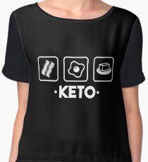 Keto - Ketosis, Ketogenic, Keto Diet, Keto Life Women's Chiffon Top