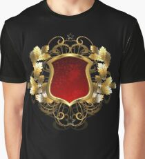 Red Shield with an Oak Branch Graphic T-Shirt