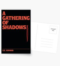 A Gathering of Shadows: Typography Postcards