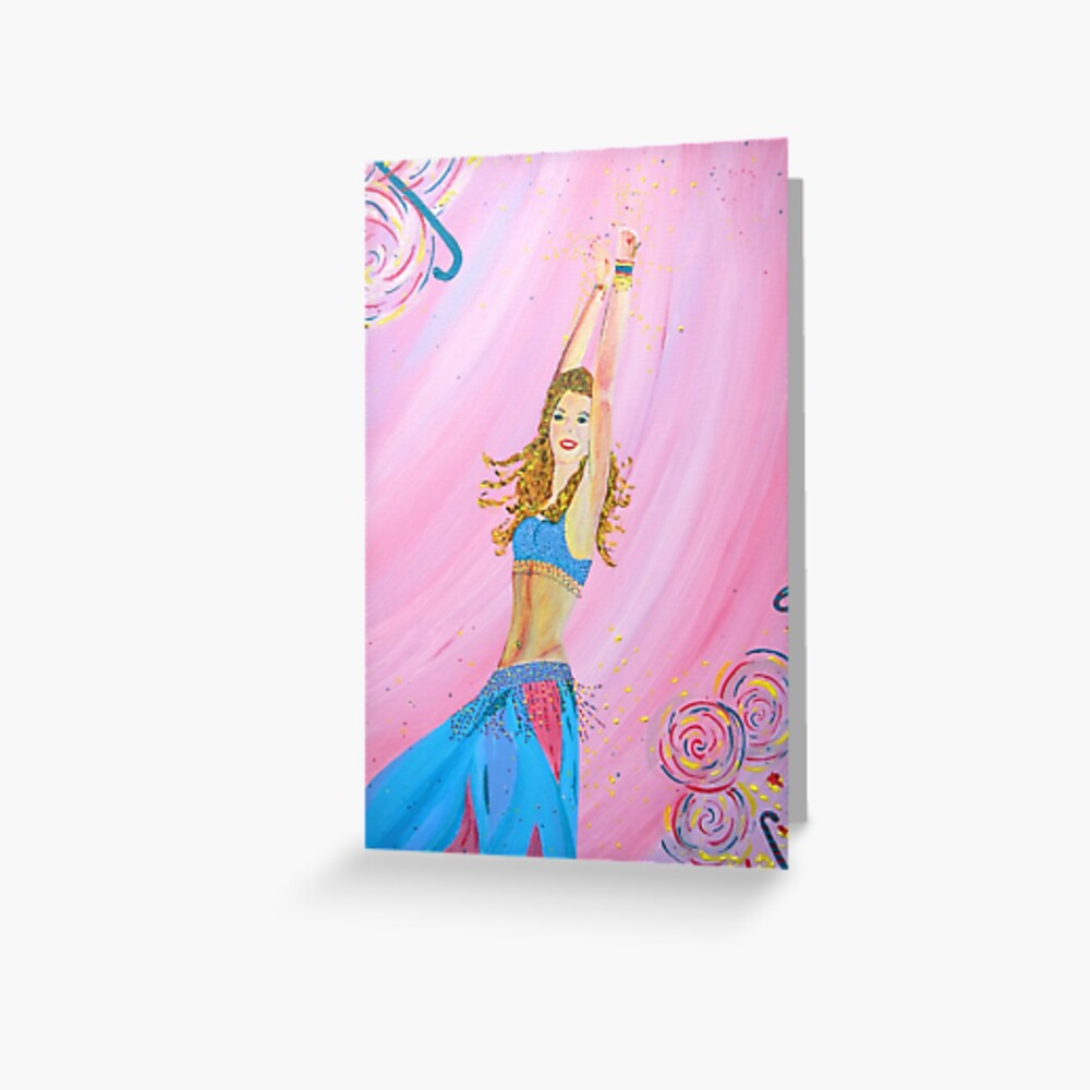 Candy Belly Dancer Greeting Card