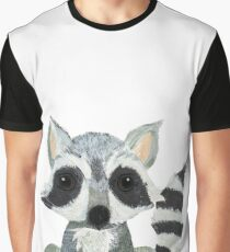 R is for Raccoon - Alphabet Graphic T-Shirt