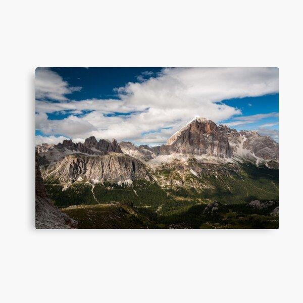 Mountain Range Canvas  Moena Italy Night Sky Wall Art Picture Home Decor