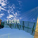 Tulsa Oklahoma Route 66 Sign - Color Edition by Gregory Ballos