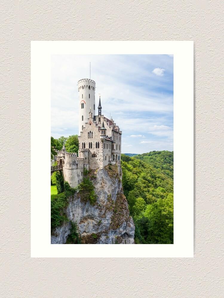 Alternate view of Lichtenstein castle in Germany Art Print