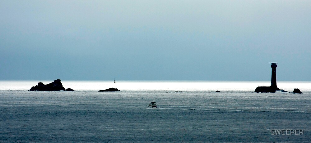 Wolf Rock from Cape Cornwall . by SWEEPER