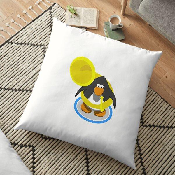 Tuba Penguin  Floor Pillow