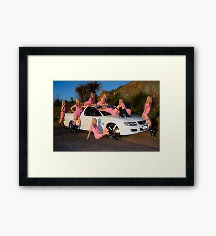 A Holden Ute in April Framed Print