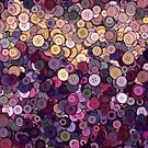 Purple and gold buttons by Adriano Carrideo