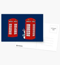 London Telephone Box and A Bunny Postcards