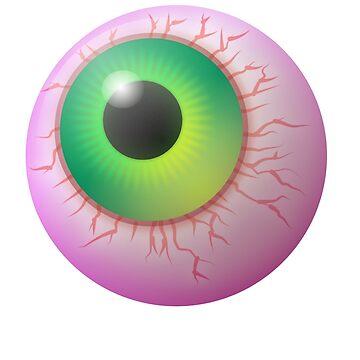 Big Eyeball Design by Shirteesy