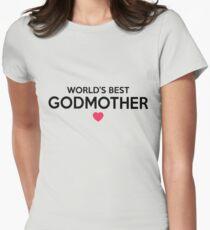 World's Best Godmother T-Shirt & Hoodies - Newborn Baby Christening Women's Fitted T-Shirt