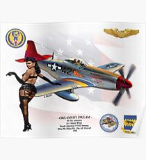 Creamer's Dream (North American P-51 Mustang) Poster