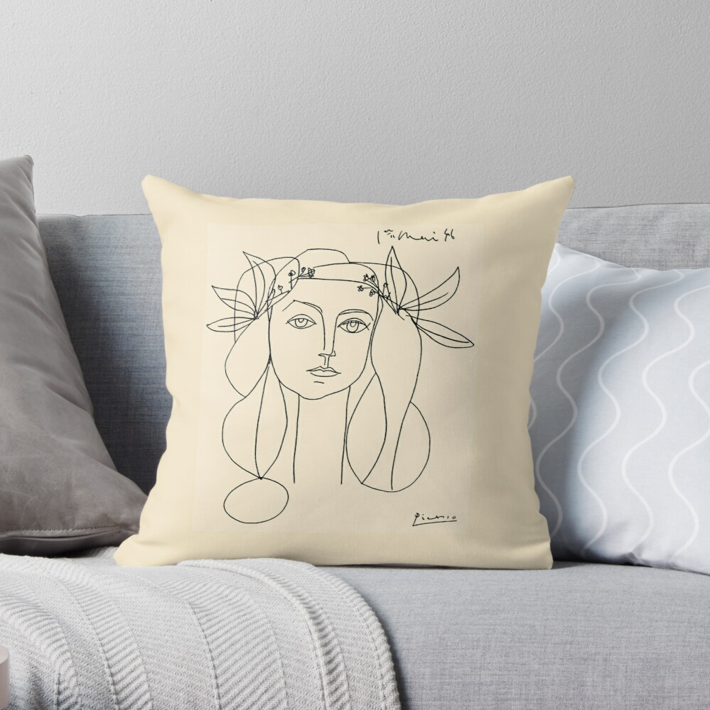 HEAD 1946 : Vintage Abstract Print Throw Pillow