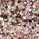 Pink Green Brown Buttons by Adriano Carrideo