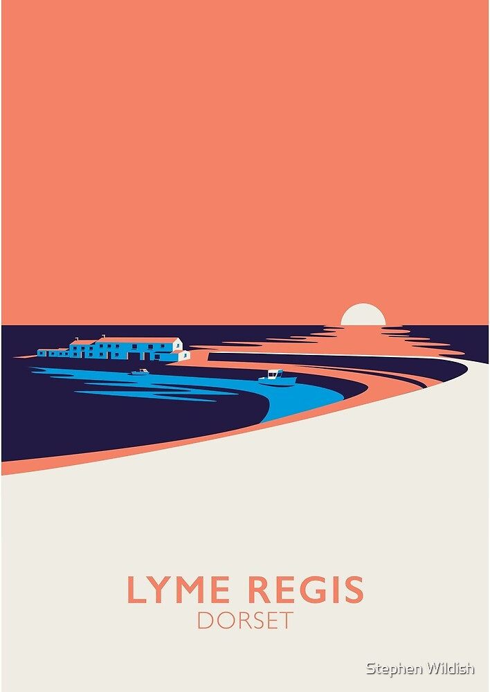 Lyme Regis Seascape - Portrait by Stephen Wildish