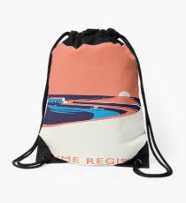 Lyme Regis Seascape - Portrait Drawstring Bag