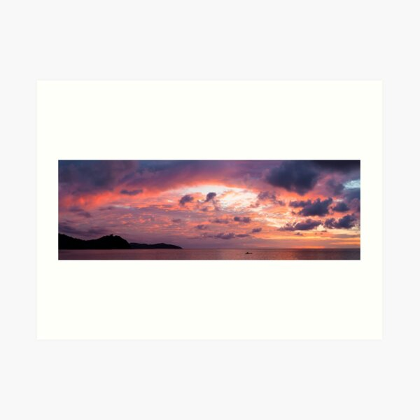 Beautiful vivid sunset Art Print