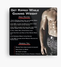 Get Ripped While Gaining Weight - Infographic Metal Print