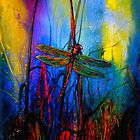 Frühmorgens .. Dragonfly in Richtung des Lichts # 5 von ©Janis Zroback