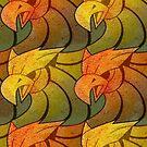 Griffin Pattern (Autumn) by MesteMonokrom
