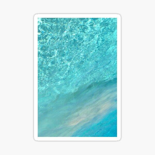turquoise liquid Sticker