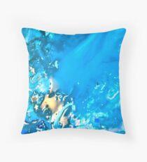 A splash of gold Throw Pillow