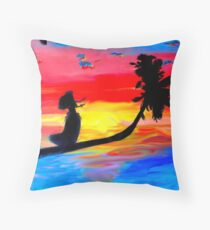 Hawaiian dream Throw Pillow