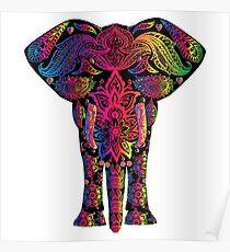 Bunter Elefant Poster