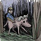 Buffalo Riding naive art by Extreme-Fantasy
