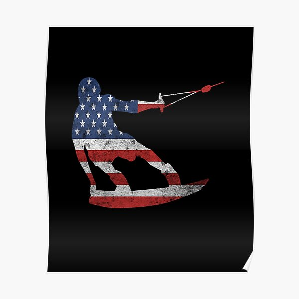 Wakeboarding USA Poster