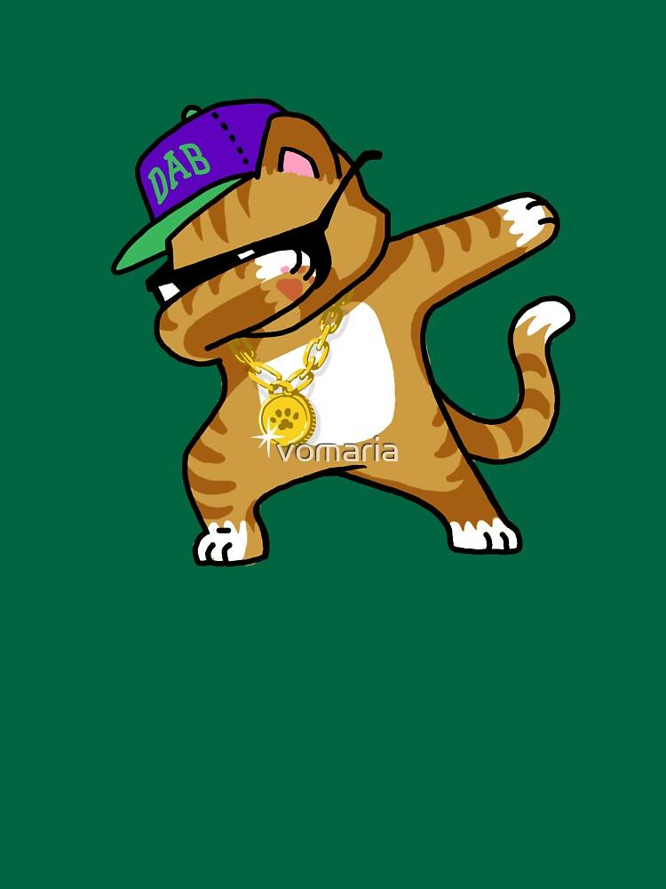 Tupfendes Katzen-lustiges Hemd tupfen Hip Hop, der Kätzchen tupft von vomaria