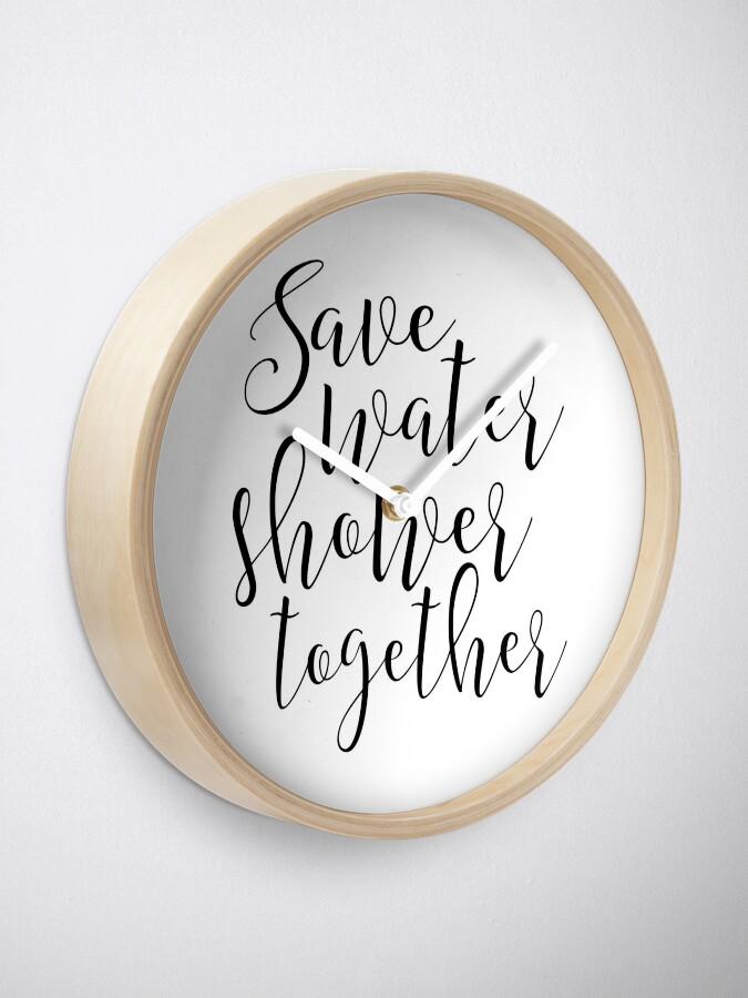 Sparen Sie Wasser Dusche zusammen, Badezimmer Zeichen, Dusche Dekor,  lustiges Geschenk, lustige Print, Paare Geschenk, Geschenk für ihn, Zitat  ...