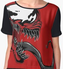 Ultimate Carnage Red art Chiffon Top