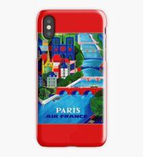 AIR FRANCE : Vintage Fly to Paris Advertising Print iPhone Case/Skin