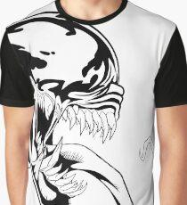 Venom Black and white art  Graphic T-Shirt