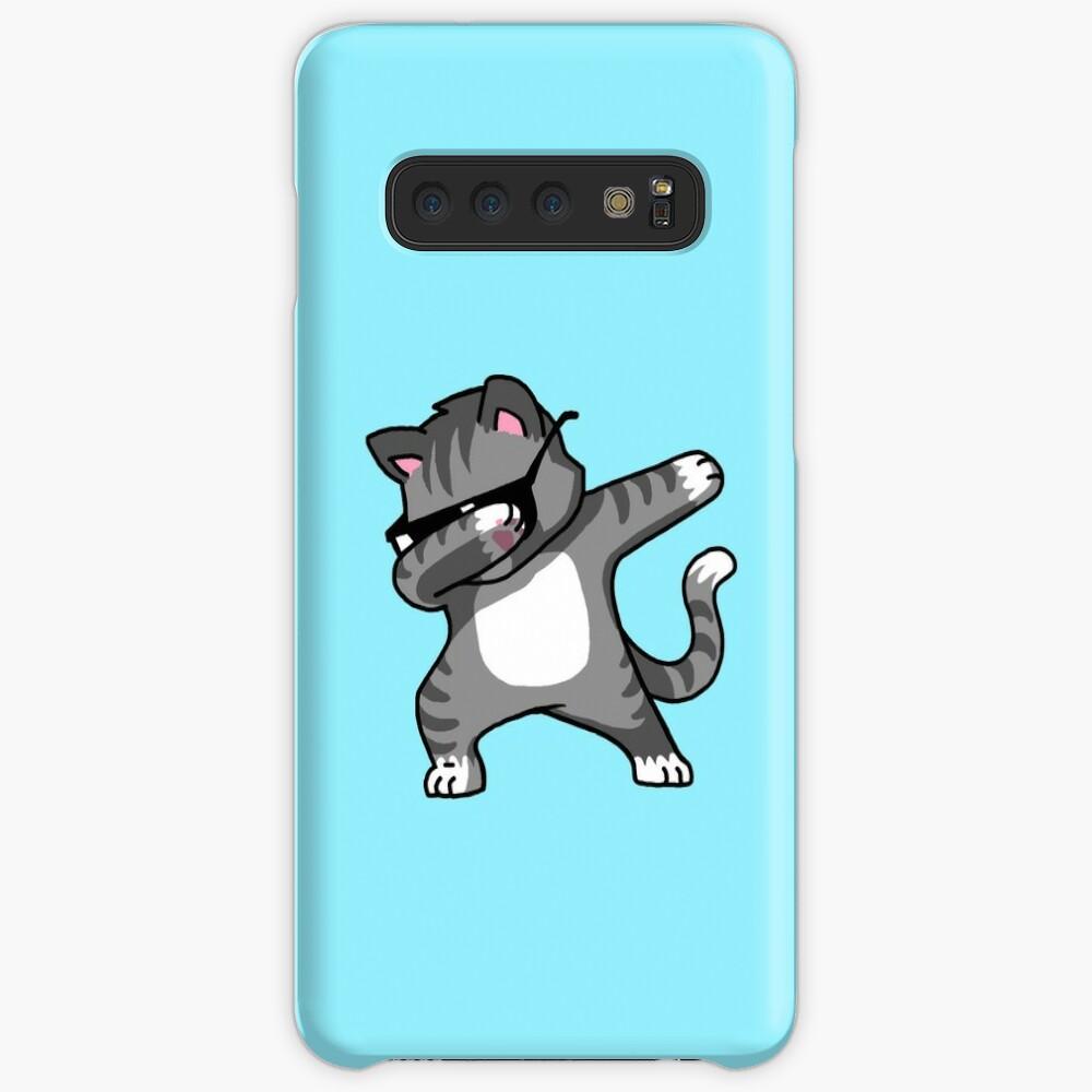 Dabbing Cat Funny Hip Hop T-shirt Case & Skin for Samsung Galaxy