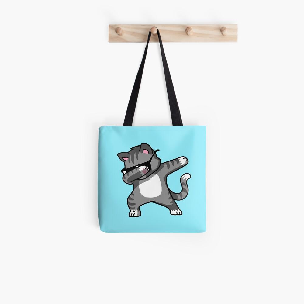 Dabbing Cat Funny Hip Hop T-shirt Tote Bag