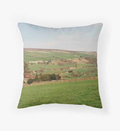 The View from Danby Castle to Oakley Walls Throw Pillow